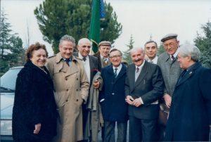 35 - Commemorazione partigiana a Salice Terme negli anni ottanta, a sinistra Anita Galliussi, Giulio Seniga.